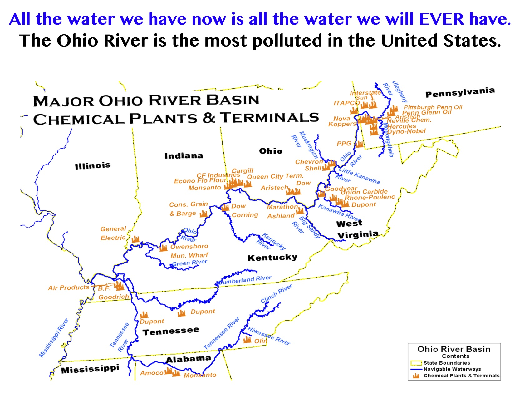 Map of the Ohio River